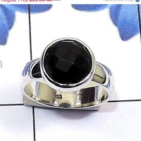 20% Off Sales black onyx ring, Sterling Silver Ring, black onyx jewelry, Gemstone Ring, Statement Ring, Birthstone Ring, Silver Metal Ring,