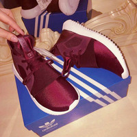 ADIDAS Fashion Sneakers Sport Shoes Tubular Sneakers Wine red