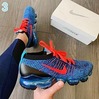 Nike Air VaporMax Flyknit 3.0 Fashion Women Men Breathable Sports Running Shoes Sneakers 3 Blue