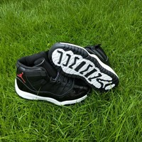 Kids Air Jordan 11 Black Sneaker Shoe Size US 11C-3Y