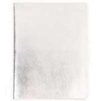 Silver leather exercise book - NEW - Stationery - New for Spring