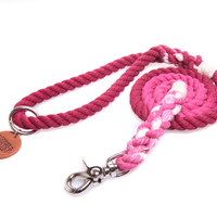 Wine Ombré Rope Dog Leash