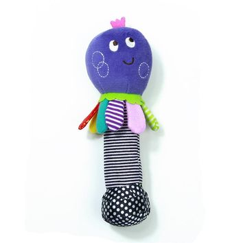 1pc Soft Baby Octopus Toy 20cm Cartoon Animal Rattle Squeak Early Educational Brinquedos Juguetes Baby Soft Plush Toy