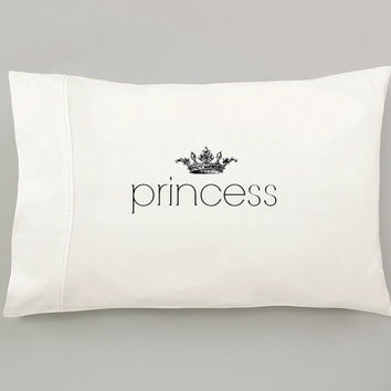 Princess Pillow with Crown - Dorm Decor, Girl Pillow