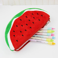 1pcs Big Volume Watermelon School Kids Pen Pencil Bag Case Gift Pendant School Supplies