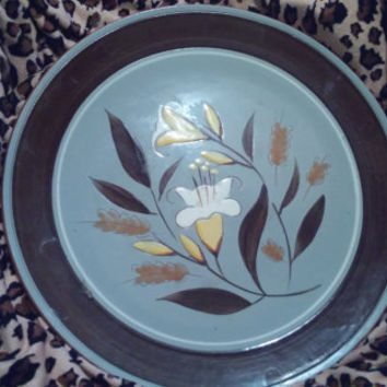 "Stangl Golden Harvest Pattern 14"" Chop Plate / Round Platter / Serving Dish - Stangl Pottery, Stangl China"