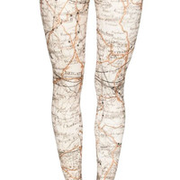 London Map Leggings Design 581