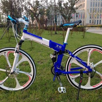 26 inch 21 speed  double disc brake luxury bicicleta mountain bike folding bike X6 BMX bicycle