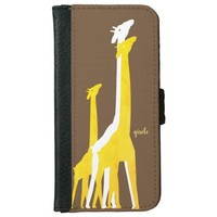 Personalized Hand-Drawn Giraffes iPhone 6/6s Wallet Case