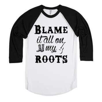 Blame It All On My Roots - Music Baseball Tee