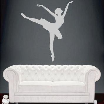 ik2267 Wall Decal Sticker ballerina dance ballet pas pirouette girl bedroom