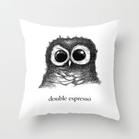 double espresso Throw Pillow by Dave Mottram