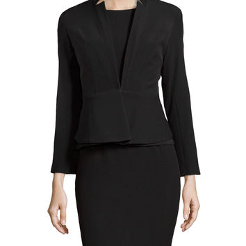 Women's Woven Sheath Dress With Jacket, Black - Chetta B - Black