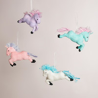 Paper Unicorn Ornaments, Set of 4 - World Market