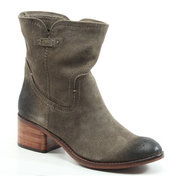 Diba True Shoes West Haven 2 Inch Heels Taupe Vintage Suede Boots