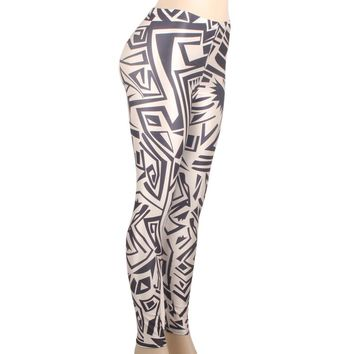 LELINTA Printed Leggings Women Sporting Full Length Seamless High Waist Elastic Leggins Workout Fashion Patterned Designs