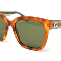 Gucci Sunglasses GG0034S 003 Havana Green/Green womens 54X18X145