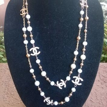 "Gorgeous 56"" CHANEL Inspired Pearl Opera Necklace"