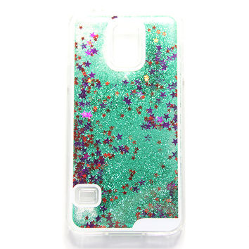 Green Glitter Waterfall Samsung S5 Case Galaxy S6 Edge S6  Case - Free Shipping