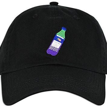 ca kuyou Lean Codein Dirty Sprite Emoji Memes Embroidered Dad Hat Baseball Cap Polo Style Adjustable (Black)