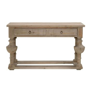 Belham Console Table Smoke Gray