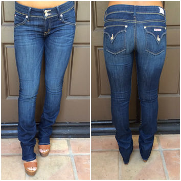 Ginny Straight Leg Jeans By Hudson - W215DMS - DARK WASH