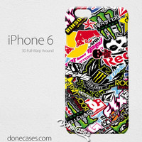 motocross sticker bomb iPhone 4/4 Case, iPhone 5/5s/5c, iPhone 6 / iphone 6 plus case