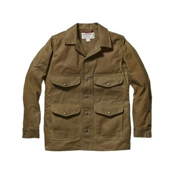 Filson Seattle Cruiser Oil Tin Cloth Jacket - Men's Tan,