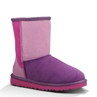 UGG Australia Infant Girls' Classic Patchwork Boots,Dried Lavender Multi,10 Child US