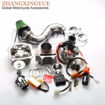 180cc EGR Big Bore Kit Performance CDI Racing Manifold Air Filter PD24J Carburetor for GY6 150cc 157QMJ 61mm Chinese Scooter 4T