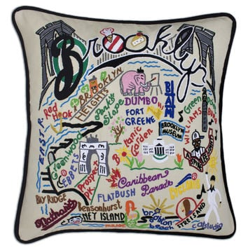 Brooklyn Hand Embroidered Pillow