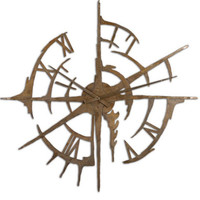 Uttermost Gallatin Metal Clock - 06652