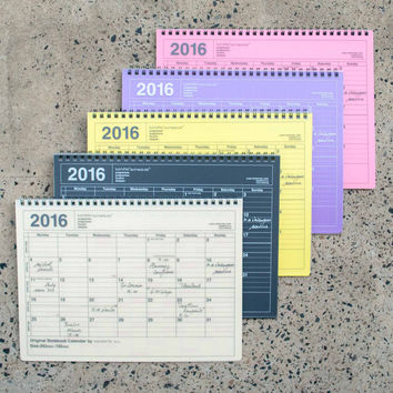 Mark's 2016 Notebook Calendar Medium
