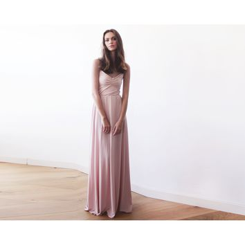 Pink Simple Ballerina Maxi Dress 1064