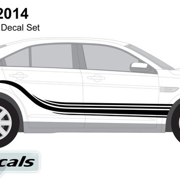 Ford Taurus 2014 Air Flow Graphics Vinyl Decal Set
