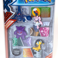 Tomy Pokemon 4 Figure Gift Pack Diancie Gengar Helioptile Attack Tags Series 3