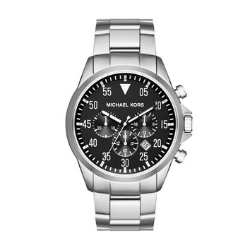 MICHAEL KORS WATCH  MEN MENS GAGE STAINLESS STEEL MK8413