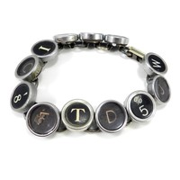 Typewriter Key Bracelet - Letters & Numbers - Brass