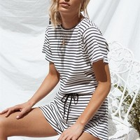 Kali Stripe Playsuit - Playsuits by Sabo Skirt