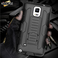 KISSCASE Military Armor Kickstand Cover Case For Samsung Galaxy S8 S7 S6 Edge Plus S5 Note 5 4 3 S4 For iPhone 7 6 6S Plus 5 5SE