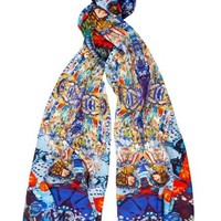 Harry Clarke Inspired Two Figurative Ladies Scarf Long