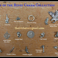 The Hobbit Lord of the Rings Themed Pewter Charm Collection EXTENSIVE