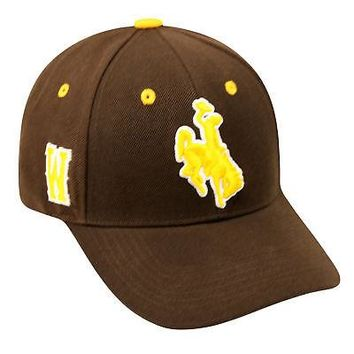 Licensed Wyoming Cowboys Official NCAA Triple Threat Adjustable Wool Blend Hat Cap TOW KO_19_1