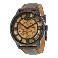 Fossil Townsman Automatic Brown Skeleton Dial Mens Watch ME3098