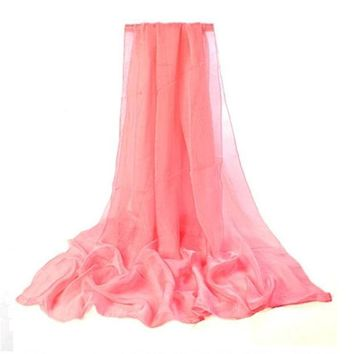 MDIG9GW bufandas mujer 2016 Solid Color Soft Beach Cover Up Shawls and Scarves Spring Autumn Women Long Chiffon scarfs