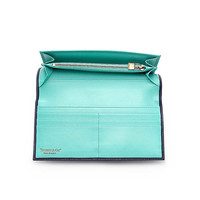 Tiffany & Co. - Continental wallet in navy textured leather. More colors available.