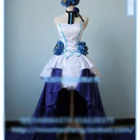 VOCALOID Hatsune Miku Find The Light Cosplay Costume Party Dress Headdress+Dress+Gloves+Shoes+Wig Custom-made