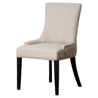 Agoura Linen Dining Chair, Cream, Side Chairs