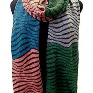Knitted Tiger Pattern Stretchy Knitted Scarves Shawls