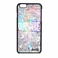 Our Second Life Quotes Nebula iPhone 6 Case